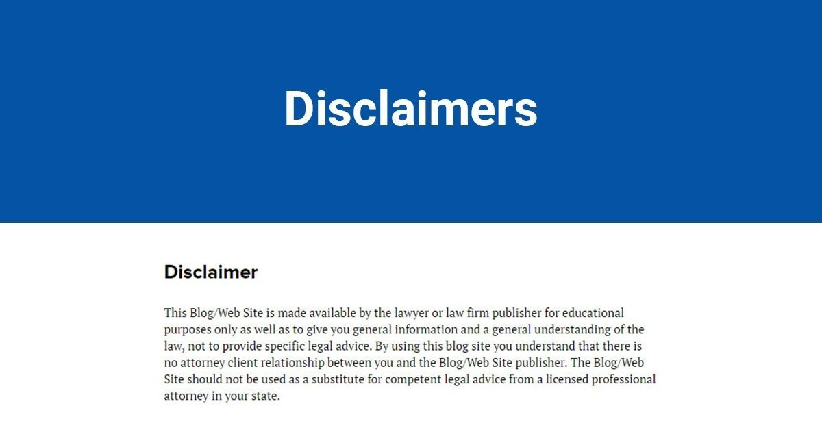 Sample Disclaimer Template TermsFeed