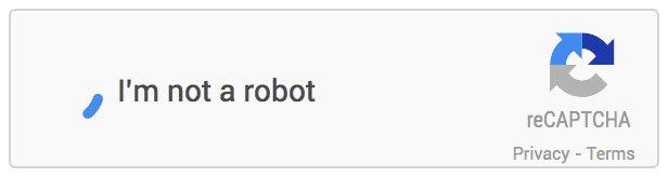 Example of reCAPTCHA / Invisible Captcha