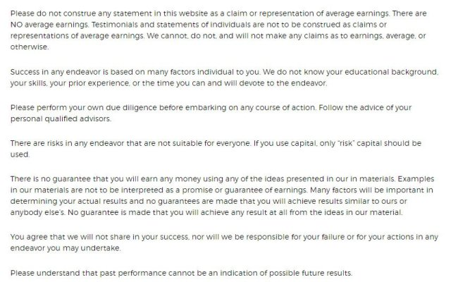 When And How To Write An Earnings Disclaimer Termsfeed