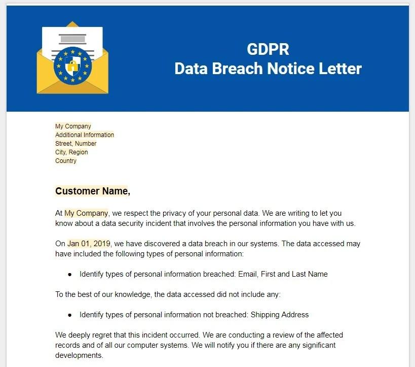 Data Breach Policy Template