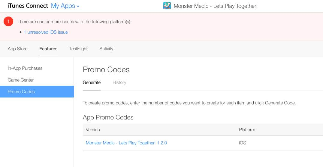 Generate Promo Codes with iTunes Connect