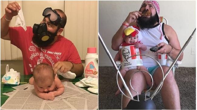 Bapak Ini Sulap Putrinya Jadi Ayam Goreng, Kurcaci hingga Pot Bunga