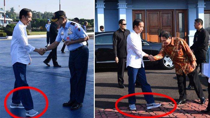 Kece Abis Presiden Jokowi Pakai Celana Jins dan Sneakers Saat Kunjungan ke Tasikmalaya