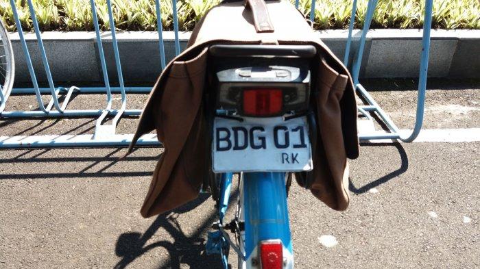 Sepeda yang Ditunganggi Wali Kota Bandung Ridwan Kamil Ada Plat Nomornya Juga Ternyata