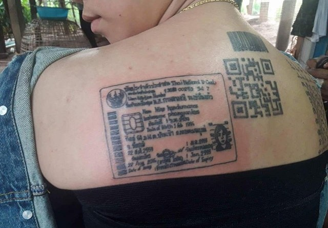 Waw, Wanita ini Bikin Tato KTP di Punggung Alasannya Bikin Geleng kepala