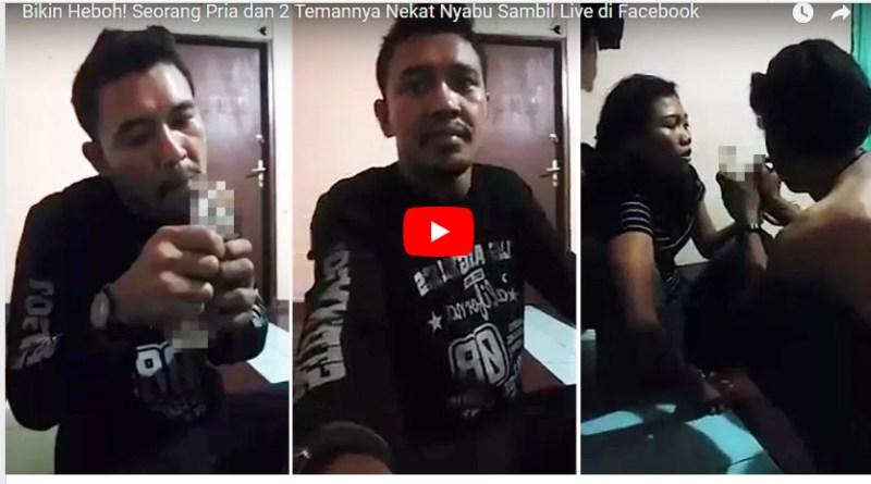 Pria Ini dan 2 Temannya Nekat Nyabu Sambil Live di Facebook
