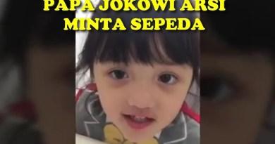 Reaksi Jokowi Saat Arsy Anaknya Ashanty Minta Sepeda