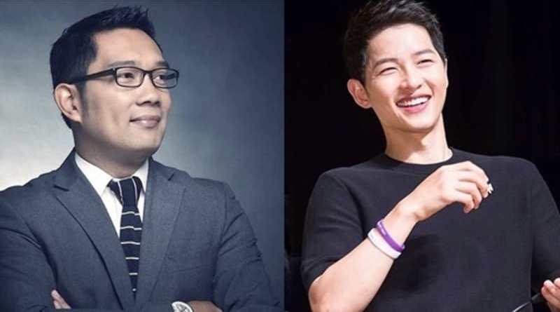 Ridwan Kamil Cukur Rambut Gaya Song Joong-Ki Live di Instagram