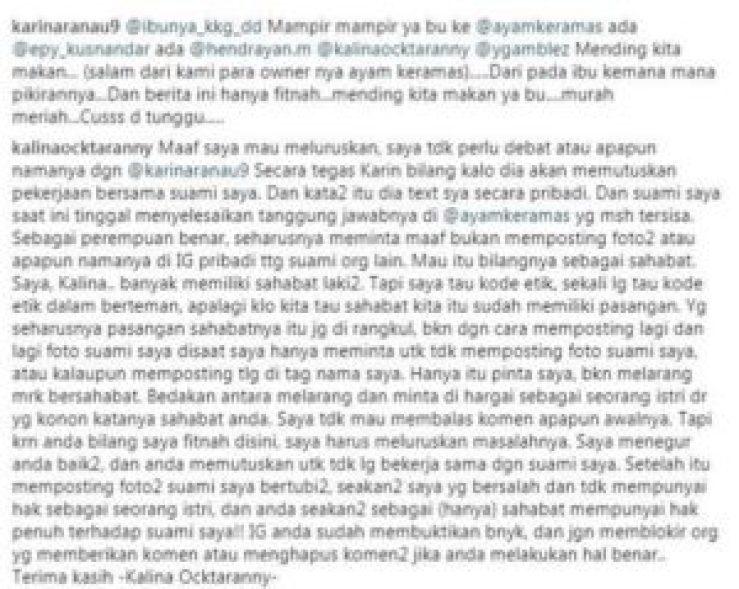 komentar dengan istri Epy Kusnandar