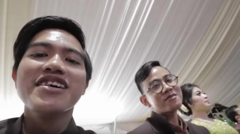 Kaesang Ngevlog Bareng Gibran untuk Pertama kali di Pernikahan Kahiyang