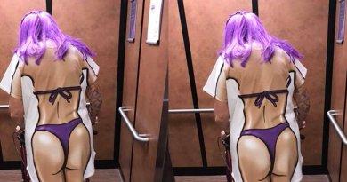 Kisah Haru Dibalik Wanita Pakai Baju Bergambar Bikini