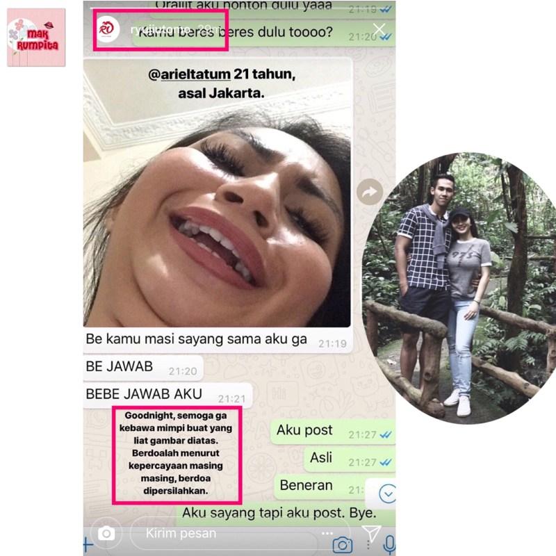 Chatting Ariel Tatum & Kekasih Beredar Bikin Panas Dingin