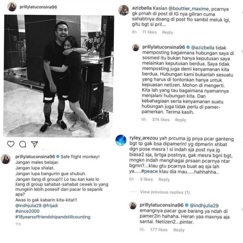 Prilly Latuconsina Kena Nyinyir Netizen, Karena Foto Mesra dengan Teman