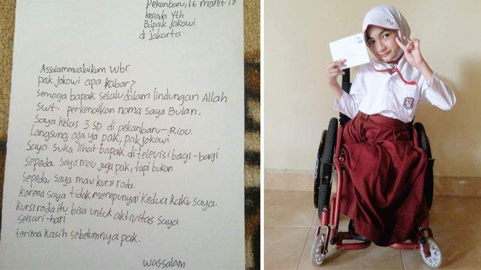 Bulan Yang Minta Kursi Roda Pada Jokowi Akhirnya Dapat Hadiahnya