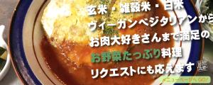 玄米・雑穀米 ヴィーガンベジタリアン〜お肉大好きさんまで満足の野菜たっぷり料理リクエストにも応えます