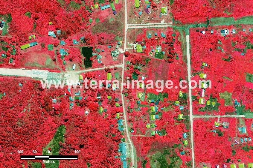 31 Memberamo Tengah WorldView 2 Red color Citra Satelit Proyek Foto Citra Satelit Tahun 2014