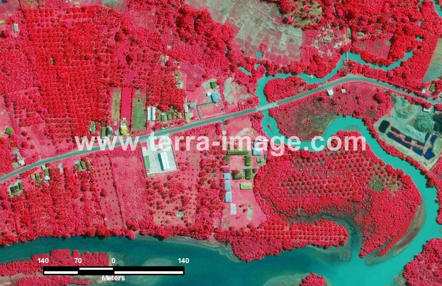 39 Linau WorldView2 Red color Citra Satelit Proyek Foto Citra Satelit Tahun 2014
