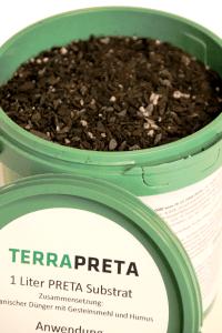 TERRA PRETA Produkt mit hohem Biokohlegehalt.