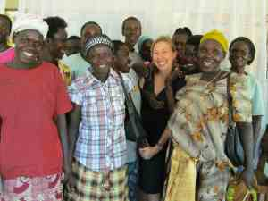 Fistula survivors gathered with Bonnie Ruder at Terrewode shortly before her departure from Soroti in March. (Photo courtesy of Bonnie Ruder)