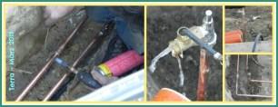 Um die Dichtigkeit zu überprüfen, musste Wasser durchgeschickt werden und tatsächlich musste eine Stelle noch nachgelötet werden.