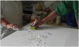 malen mit Schwamm /paint with sponge