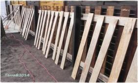 die Bretter für die Vorderseite / the planks for the front side