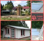 Die Dachbleche nutzten wir gleich für unser Gartenhäuschen. / The roof cover we reused for our summer house.