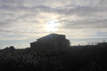 Nascer do Sol na vila