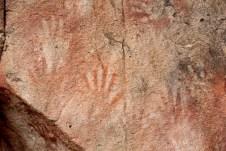 Observe, em laranja no centro, uma mão com seis dedos. Isto mostra uma possível anomalia em decorrência da consanguinidade, já que os grupos eram pequenos, cerca de 25 pessoas