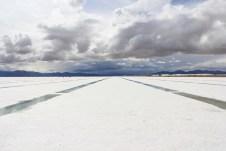 Uma pequena amostra do Salar de Uyuni, na Bolívia