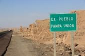 O povoado abandonado de Pampa Union