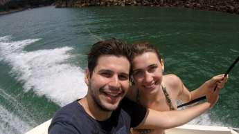 No dia seguinte, partimos para o passeio de barco no lago...