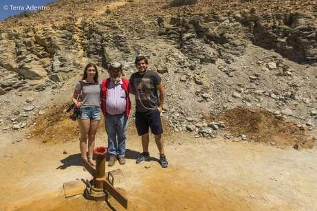 Com o Jorge, no local onde os 33 mineiros foram descobertos