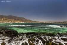 As águas esverdeadas e transparentes