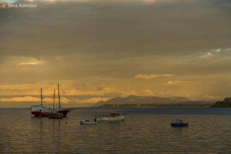 Barcos no Lago Llanquihue