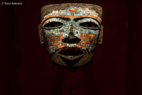 A famosa máscara do guerreiro Teotihuacano