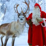 Papai Noel e rena da Finlândia