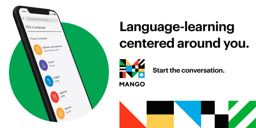 Mango Languages logo - Start the conversation