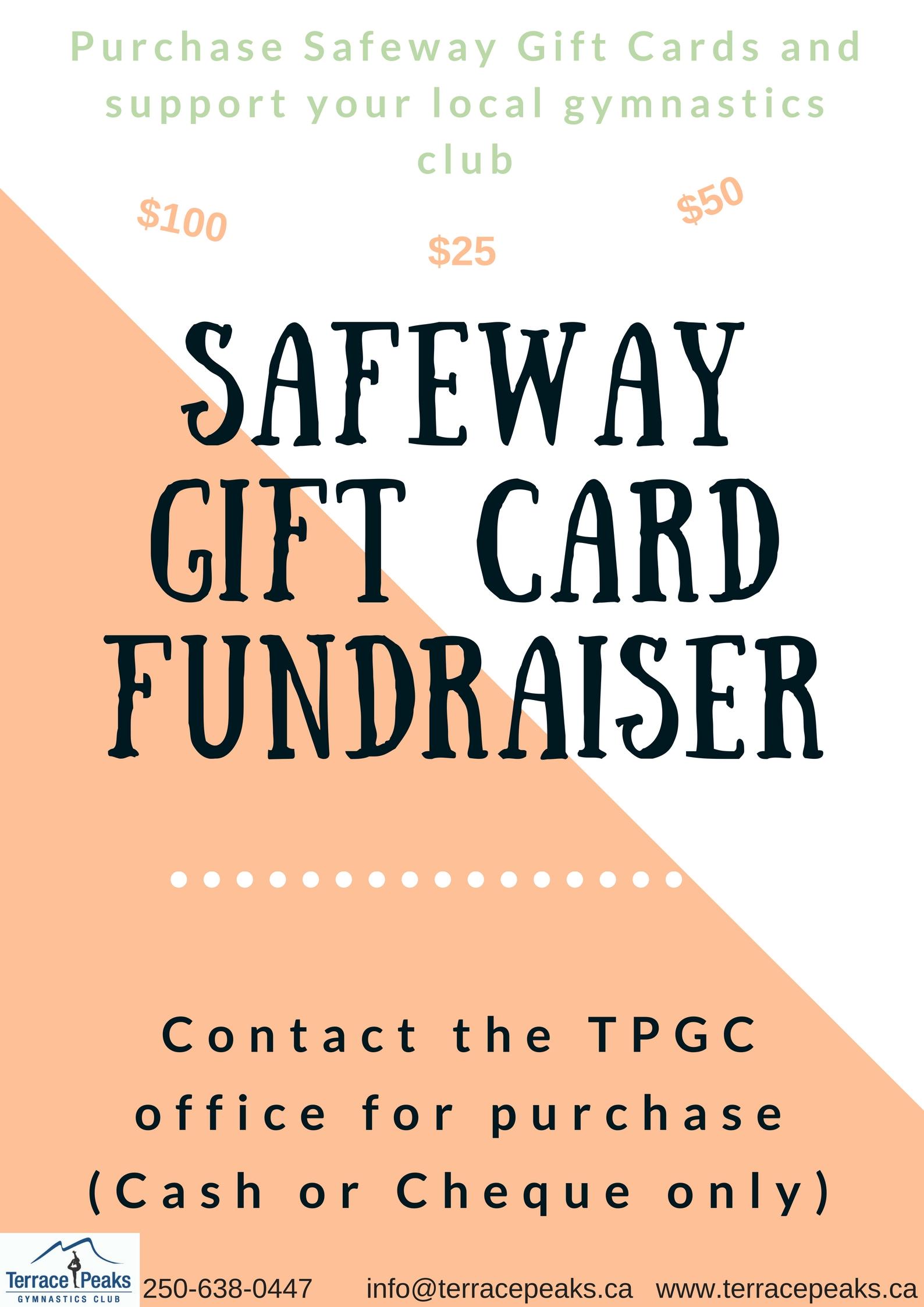 Safeway Gift Card Fundraisier – Terrace Peaks Gymnastics Club