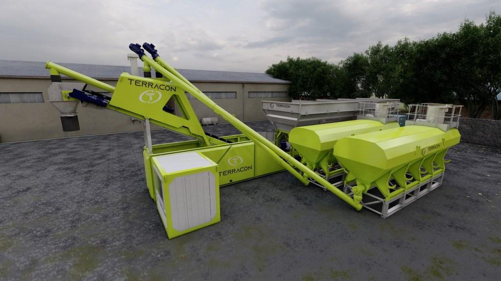 Mobile Modular Concrete Batching Plant