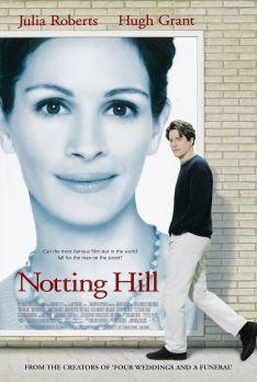 Locandina del famoso film Notting Hill