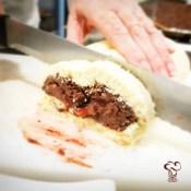 Receta de brazo de gitanos de chocolate con higos
