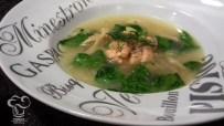 Receta de sopa de salmón y girgolas