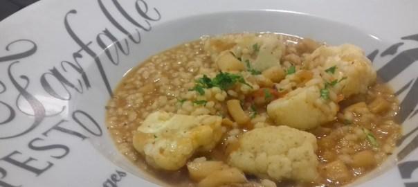 Receta de arroz con sepia y coliflor