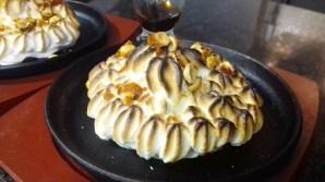 Receta de tortilla alaska con turrón