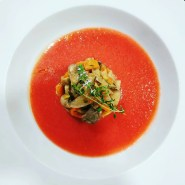 Receta de sopa de tomate y fresas