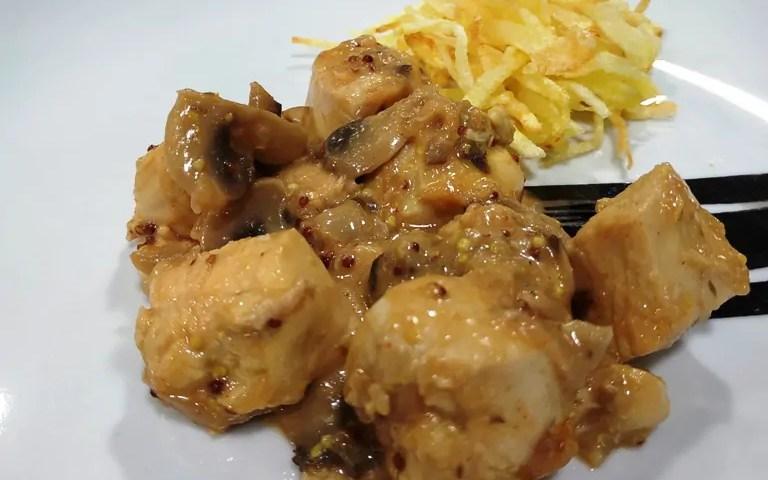 Receta de pollo con mostaza