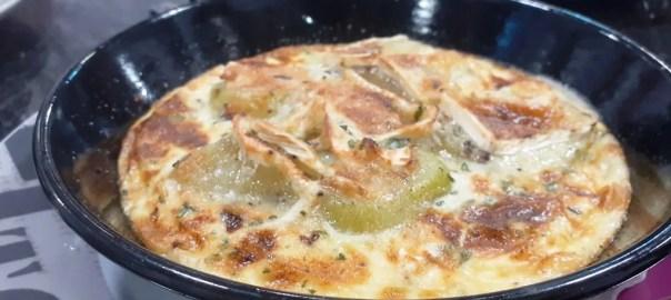 Tartiflette con queso brie