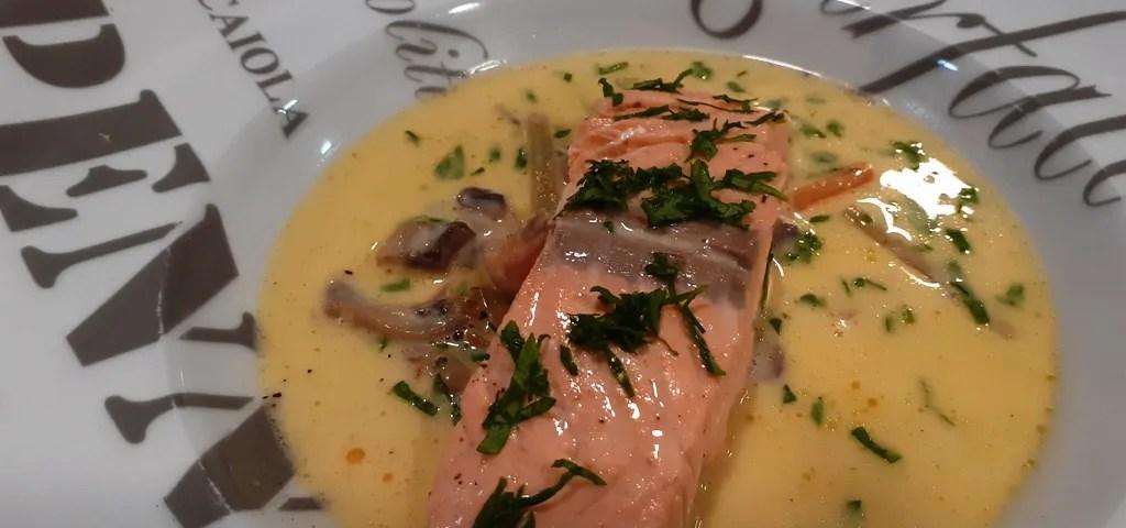 Receta de salmón a la nage