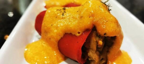 Receta de pimientos del piquillo rellenos de carne